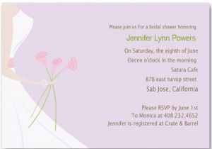 Custom Bridal Shower Invitations Online Printable Wedding Dress Purple Bridal Shower Invitations