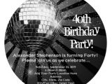Custom Disco Party Invitations 24 40th Birthday Invitation Templates Psd Ai Free