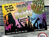 Custom Disco Party Invitations 70 39 S Party Invitation Personalized Printable Invite for