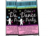 Custom Disco Party Invitations Dance Party Pop Rock Star Digital Custom by