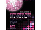 Custom Disco Party Invitations Disco Birthday Party Printable Invitation