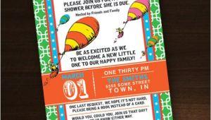 Custom Dr Seuss Baby Shower Invitations Dr Seuss Baby Shower Invitation Custom by Esparkstudio