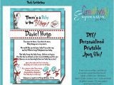 Custom Dr Seuss Baby Shower Invitations Personalized Dr Seuss Party Invitation by