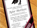 Custom Graduation Invites Burgundy Personalized Graduation Invitations