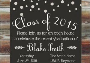 Custom Graduation Invites Graduation Party Invitation Custom Color Graduation Open