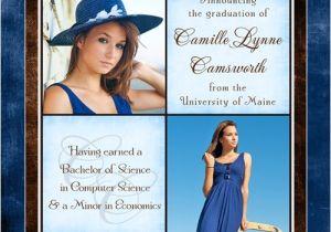 Custom Graduation Invites Personalized College Graduation Announcement Cross