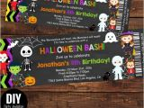 Custom Halloween Birthday Invitations This Halloween Ticket Birthday Invitations to Celebrate