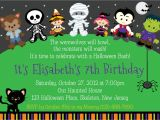Custom Halloween Birthday Invitations Trick or Treat Halloween Birthday Invitation Personalized