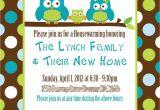 Custom Housewarming Party Invitations Custom Owl Housewarming Invitations
