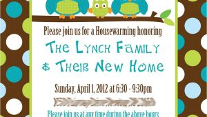 Custom Housewarming Party Invitations Custom Owl Housewarming Invitations