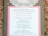 Custom Made Bridal Shower Invitations Playing with Paper — Pearls & Lace Baby or Bridal Shower