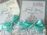 Custom Made Quinceanera Invitations Sweet Sixteen Teal and Silver Glitter Custom Handmade