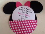 Custom Minnie Mouse Baby Shower Invitations Handmade Custom Hot Pink Minnie Mouse Birthday Invitations