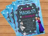 Custom Party Invitations with Photo Frozen Birthday Invitation Custom Invitation
