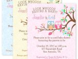 Custom Party Invitations with Photo Owl Baby Shower Party Invitations Custom Personalized