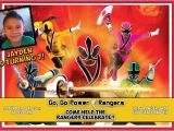 Custom Power Ranger Birthday Invitations Power Ranger Birthday Invitations