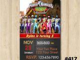 Custom Power Ranger Birthday Invitations Power Ranger Invitation Birthday Party Custom by