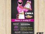 Custom Power Ranger Birthday Invitations Power Ranger Invitation Power Rangers From