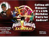 Custom Power Ranger Birthday Invitations Power Rangers Birthday Invitations Ideas Bagvania Free