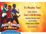 Custom Power Ranger Birthday Invitations Power Rangers Custom Invitation Mason 39 S Birthday 4