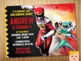 Custom Power Ranger Birthday Invitations Power Rangers Invitation Power Rangers Birthday by