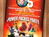 Custom Power Ranger Birthday Invitations Power Rangers Samurai Birthday Invite Printable Digital File