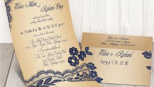 Custom Seal and Send Wedding Invitations Elegant Lace Seal and Send Wedding Invitation by