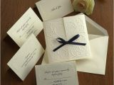 Custom thermography Wedding Invitations Blind Embossed Wedding Invitation Set Raised