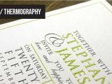 Custom thermography Wedding Invitations Raised Ink Printing thermography Wedding Invitations and