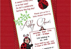 Customizable Baby Shower Invites Red Ladybug Polka Dot Custom Baby Shower Invitation