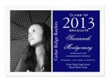 Customize Graduation Invitations Custom Photo Graduation Announcements Blue 5 Quot X 7