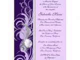 Customize Quinceanera Invitations Purple and Silvery Custom Quinceanera Invitations 5 Quot X 7