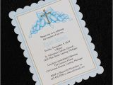 Customized Baptism Invitations Personalized Baptism Christening Invitations Blue Hearts with
