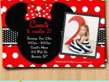 Customized Birthday Invitations Customized Minnie Mouse Birthday Invitations Drevio