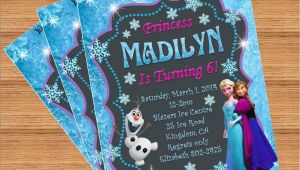 Customized Birthday Invitations Frozen Birthday Invitation Custom Invitation