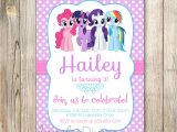 Customized Birthday Invitations My Little Pony Personalized Birthday Invitations