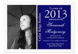 Customized Graduation Invitations for Free Custom Photo Graduation Announcements Blue 5 Quot X 7