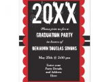 Customized Graduation Party Invitations Custom Graduation Party Invitations Black and Red Zazzle