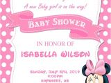 Customized Minnie Mouse Baby Shower Invitations 10 Best Minnie Mouse Baby Shower Invitations Walmart
