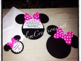 Customized Minnie Mouse Baby Shower Invitations 20 Custom Hand Made Minnie Mouse Baby Shower Invitations