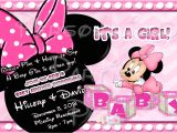 Customized Minnie Mouse Baby Shower Invitations Baby Minnie Mouse Baby Shower Invitation by Partiesplus On
