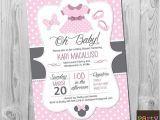 Customized Minnie Mouse Baby Shower Invitations Items Similar to Minnie Mouse Baby Shower Invitation