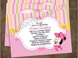 Customized Minnie Mouse Baby Shower Invitations Minnie Baby Shower Invitations Personalized Invites