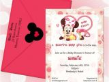 Customized Minnie Mouse Baby Shower Invitations Minnie Mouse Baby Shower Invitations Baby Custom Request