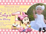 Customized Minnie Mouse First Birthday Invitations 20 Printed Baby Minnie Mouse First Birthday Invitations