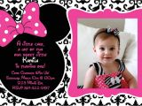 Customized Minnie Mouse First Birthday Invitations Free Printable 1st Birthday Minnie Mouse Invitation