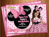 Customized Minnie Mouse First Birthday Invitations Free Printable Minnie Mouse Birthday Invitations
