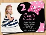 Customized Minnie Mouse First Birthday Invitations Minnie Mouse Birthday Invitations Personalized