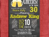 Cute 30th Birthday Invitation Wording Surprise 21st 30th 40th 50th Beer Chalkboard Style