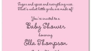 Cute Baby Girl Shower Invitations Sayings Baby Shower Invitation Wording for A Girl